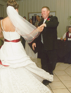 Dancing Bride and Groom in Wedding Chapel, Granbury, TX