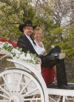 Carriage Ride to Wedding Chapel, Granbury, TX